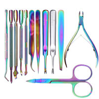 BORN PRETTY Nail Cuticle Pusher Remover Tweezer Nipper Stainless Steel