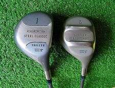 King Cobra Steel Classic Driver 12 Deg & 3 Wood Set Senior - Excellent Condition