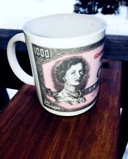 Canada Queen Elizabeth II 1000 Thousand Dollar Note Cup Canadian Money Mug