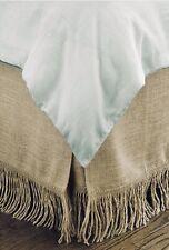 New ListingFringed Burlap Bed skirt Size Full 54x80x15