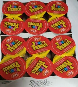 Fruity Pebbles Cereal 12 Individual Cups (2oz.) Free-Shipping New Sealed