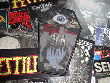Death Coffin Woven Patch Death Metal Mantas Limited Sold Out Kutte Aufnäher NR 3