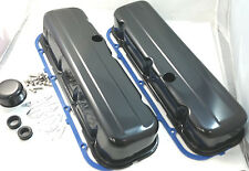 Black BBC Big Block Chevy Tall Style Valve Cover Kit W/ Gaskets 396 427 454 502