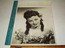 Rare Original VTG Elaine Riley RKO Radio Musical The Girl Rush Linen Back Photo