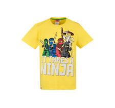 T-shirts et hauts rouges à longueur de manche manches courtes à motif fantaisie/dessin animé pour garçon de 2 à 16 ans