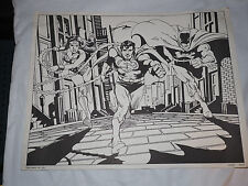 D.C.COMICS INC. 1978 FUN ART 40102 Black White Lithograph for coloring 11 x 14""