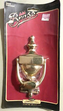 """Solid Brass Ives Door Knocker - New in package - 7"""" tall"""
