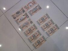1864 Civil War Confederate States Bank Note Facsimile Bills 100/50/20/10/5/1