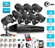 XVIM 720P 8CH HDMI DVR Home Security CCTV Surveillance Camera System Outdoor 1TB