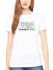 Official The Beatles On Apple Women's T-Shirt Lennon McCartney Ringo