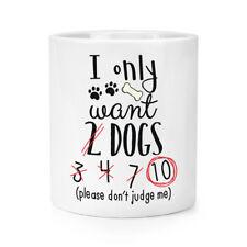 I Only Want 2 chiens PINCEAU POUR MAQUILLAGE CRAYON POT - Drôle chiot