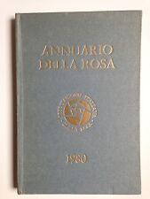 ANNUARIO DELLA ROSA, Associazione italiana della rosa, 1980
