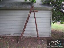 Vintage Wooden Folding Ladder 8ft