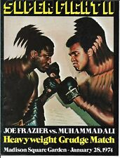 Joe Frazier Muhammad Ali II   Boxing Program January 28, 1974