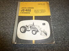John Deere 400 Tractor Loader Parts Catalog Manual Manual PLT24746T