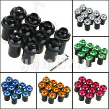 5mm Fairing Windscreen Screw Bolt Kit Windshield Mounting Nuts Wellnut