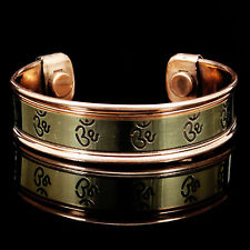 Magnetic Copper Healing Therapy Pain Relief OM Armband Arthritis Cuff Bracelet