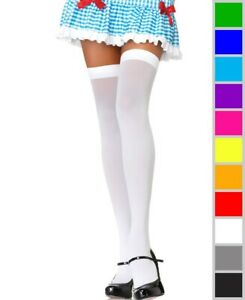 New Leg Avenue 6672 Opaque Knit Over Knee Thigh High Stockings