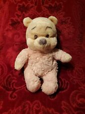 "Disney Winnie The Pooh Rattle Plush Toy Light Pink Pajamas 10"". Disneyland Park"