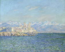 Claude Monet Antibes Afternoon Effect Poster Reproduction Giclee Canvas Print