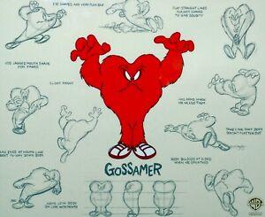 Warner Brothers Animation Cel Gossamer The Monster Model Cell