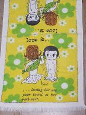 "Vintage Joke Bath Towel Screen Prints by Sayco of California MCM 37"" x 22"""