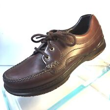 ACORN MEN'S EASY BROWN THREE EYE LACE UP OXFORD COMFORT ON EARTH  SZ 8 M    LR