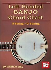 Left-Handed Banjo Chord Chart 5-String G Tuning New Paperback Book William Bay