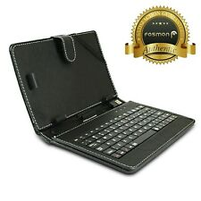 """Black Leather Stand Case w/ USB Keyboard & Stylus for Google Nexus 7 7"""" Tablet"""