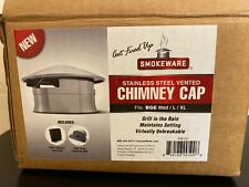 SmokeWare SS Vented Chimney Cap for Big Green Egg (Med, L & XL) New in Box