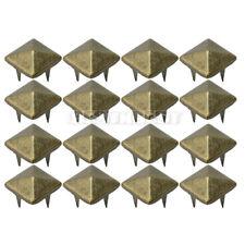 100 Pcs Metal Punk Rock 10mm Metal Pyramid Studs Spots For Bag Shoes Clothes DIY
