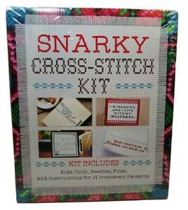 "Snarky Cross Stitch Kit  14 Projects Kits ""Wash Your Hands Before You Touch Me"""