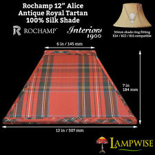 Interiors 1900 Rochamp Alice 12in Antique Royal Tartan Square Silk Shade
