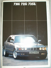 BMW 730i, 735i & 735iL brochure 1987 ed 2 + upholstery folder and price list