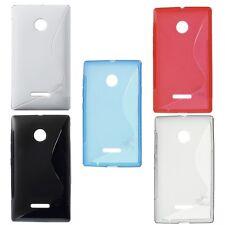 Custodia WAVE S Line Cover TPU Morbida Gel Gomma per Microsoft Lumia 435