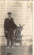 F27/ Animal RPPC Postcard c1910 Taxidermist Deer Buck Mount 19