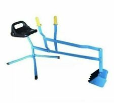 Heavy Duty Metal Sand Digger 360 Degree Revolving Outdoor Kid Sandpit Toy Blue