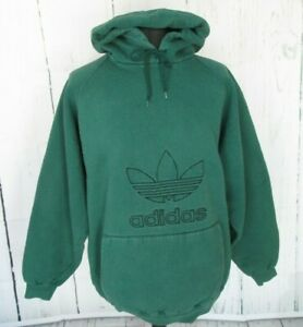 Preloved Mens ADIDAS Green Hooded Sweatshirt Size Extra Large (w43)
