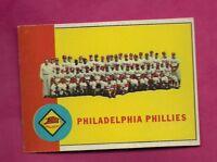 1963 TOPPS # 13 PHILADELPHIA PHILLIES TEAM PHOTO EX-MT CARD (INV# A6465)