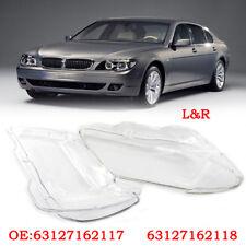 2PCS For BMW 7 E65 / E66 LCI 2005-2008 Headlight Plastic Headlamp Lens Cover Kit