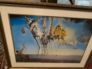 """Exciting Salvadore Dali signed in print """" The Temtation of St. Anthony"""""""