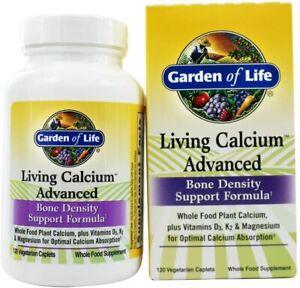 Garden of Life Bone Strength Calcium Supplement Living Calcium Advanced Bone