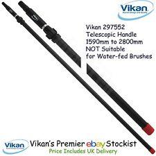 Vikan Aluminium Handle Telescopic Pole 1590mm-2800mm Wash Brushes Free P&P