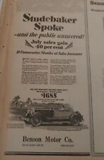 Aug 19, 1928 Newspaper Page #7742- Studebaker Spoke- And The Public Answered!