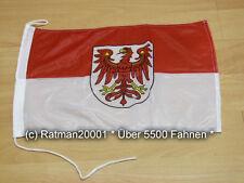 Fahnen Flagge Brandenburg Bootsfahne Tischwimpel Biker - 30 x 45 cm
