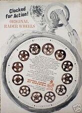 1965 65 Rader Wheel Clock Mag Rim ORIGINAL Vintage Ad  C MY STORE  5+= FREE SHIP