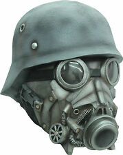 BRAND NEW Futuristic Nazi Gas Mask DELUXE ADULT LATEX CHEMICAL WARFARE MASK