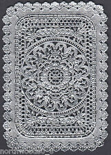 DOILEY SILVER FRAME MEDALLION PAPER LACE FOIL DECORATIVE DRESDEN GERMANY ART