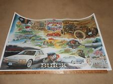 1991 BUICK GREAT AMERICAN RACE 24x38 PROMO POSTER BROCHURE 1958 & '92 ROADMASTER