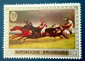 Rwanda:1970 Horse Paintings from the 15th-20th Centur. Rare & Collectible Stamp.